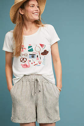 Anthropologie Beachtime Graphic Tee