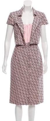 Oscar de la Renta Tweed Midi Dress Set