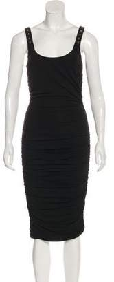Versace Ruched Midi Dress