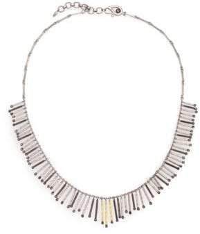 Coomi Silver Diamond, 20K Yellow Gold& Sterling Silver Necklace