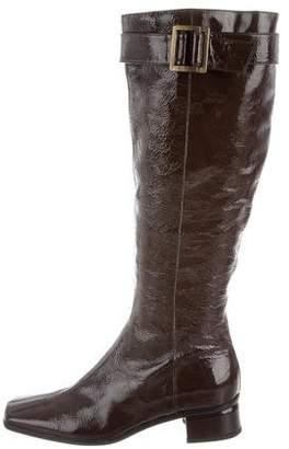 Aquatalia Patent Leather Knee-High Boots