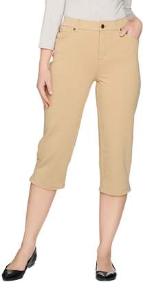 Denim & Co. Comfy Knit Denim 5-Pocket Capris