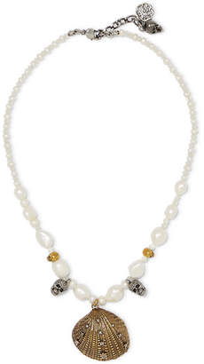 Alexander McQueen Gold And Silver-tone, Crystal And Faux Pearl Choker - White