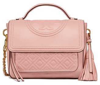 Tory Burch Fleming Quilted Leather Top Handle Satchel