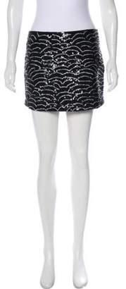Gryphon Sequin Silk Mini Skirt Black Sequin Silk Mini Skirt