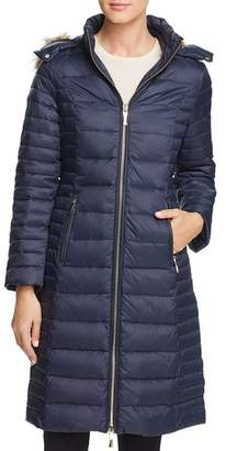 Kate Spade Faux Fur Trim Hooded Puffer Coat
