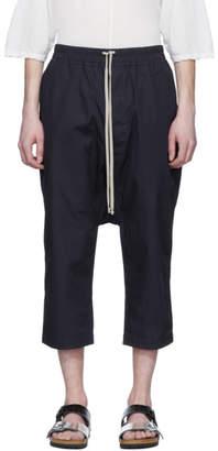 Rick Owens Indigo Cropped Drawstring Lounge Pants