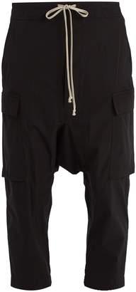 Rick Owens Lightweight draped drawstring trousers
