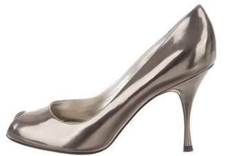 Dolce & Gabbana Metallic Leather Pumps