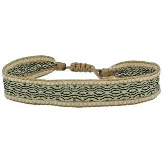 BEIGE LeJu London - Handwoven Single Wrap Bracelet With Glass Beads In