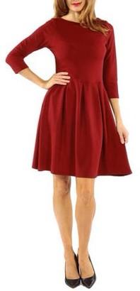 24/7 Comfort Apparel Women's Classic Flared Dress