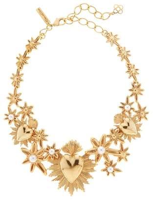 Oscar de la Renta Sacred Heart And Star Necklace