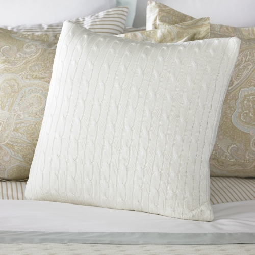 Coral Beach Cable Throw Pillow