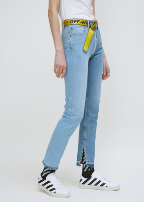 Off-White multicolor split 5 pocket jean $1,220 thestylecure.com