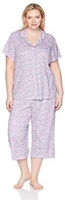 Karen Neuburger Women's S/s Girlfriend Crop Pj