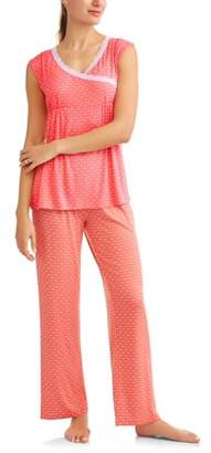 Lamaze Nurture by Nursing Sleeveless Top and Pants Sleep Set -- Available in Plus Sizes