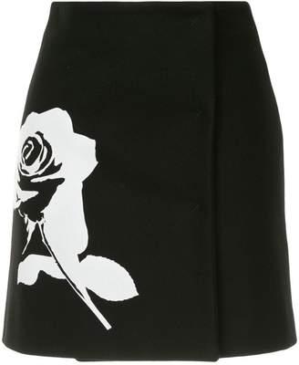 MSGM printed rose mini skirt