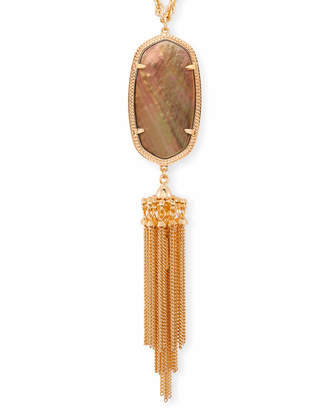 Kendra Scott Rayne Long Pendant Necklace in Rose Gold