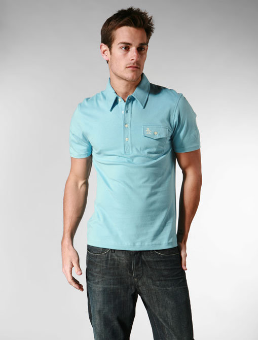 Penguin The Jack Polo in Air Blue