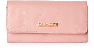 Tahari Blush Royal Flush Continental Wallet