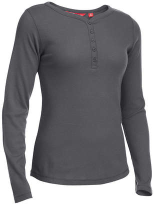 Ems Women's Lakeside Thermal Waffle-Knit Henley