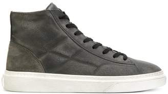 Hogan quilted distressed hi-top sneakers
