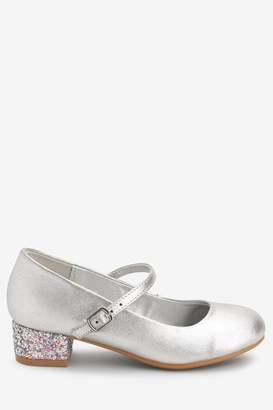 Next Girls Silver Mary Jane Heels (Older) - Silver