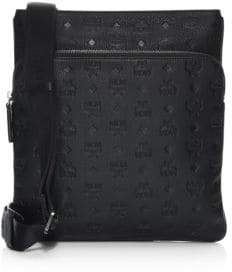 MCM Ottomar Monogram Leather Messenger Bag