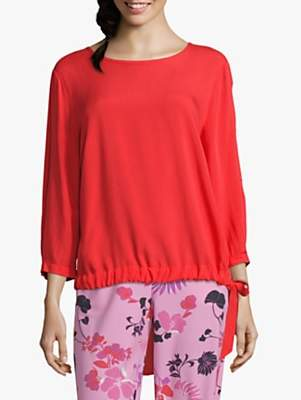 Betty Barclay Tie Trim Blouse, Hibiscus Red