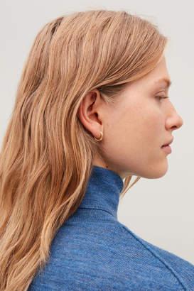 Cos GOLD-PLATED MICRO HOOP EARRINGS