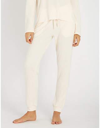 Eberjey Mina high-rise jersey lounge trousers