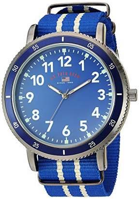 U.S. Polo Assn. Men's Quartz Stainless Steel and Nylon Watch