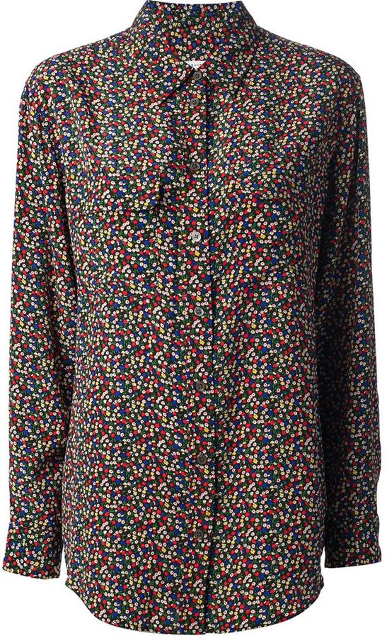 Equipment 'Brett' floral shirt