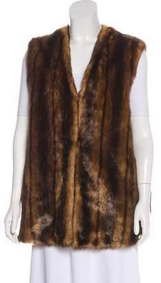 Adrienne Landau Faux Fur Animal Vest