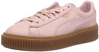 Puma Women's Basket Platform Euphoria Gum Sneaker