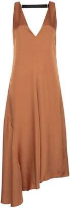 Tibi mendini satin-twill v-neck draped dress