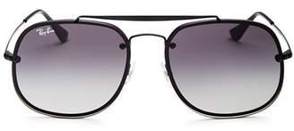 Ray-Ban Unisex Brow Bar Square Aviator Sunglasses, 58mm