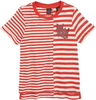 Scotch Shrunk Contrast Stripe T-Shirt
