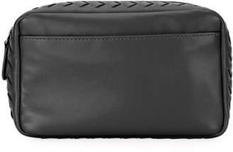 Bottega Veneta Small Zip Top Leather Cosmetic Pouch