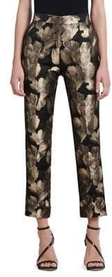 Donna Karan Metallic Jacquard Skinny Pants