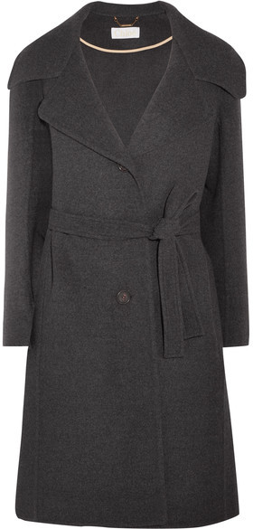 Chloé  Chloé - Belted Wool And Cashmere-blend Coat - Charcoal