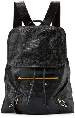 Balenciaga Classic Traveler Small Leather Backpack, Black $1,765 thestylecure.com