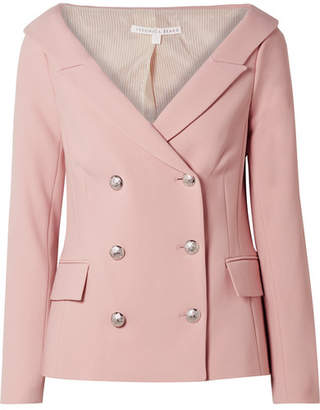 Veronica Beard Frayne Double-breasted Crepe Blazer - Baby pink