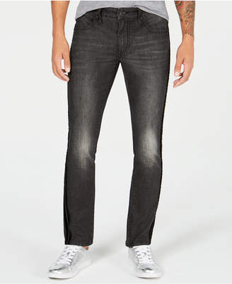 INC International Concepts I.n.c. Men's Velvet Side Stripe Skinny Jeans
