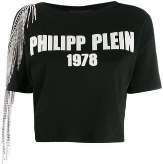 Philipp Plein cold shoulder T-shirt