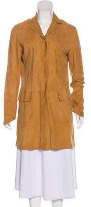 Dolce & Gabbana Suede Knee-Length Coat