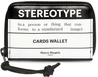 Maison Margiela Stereotype Leather Zip Card Wallet
