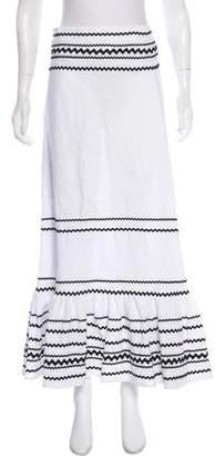 Lisa Marie Fernandez Linen Printed Midi Skirt