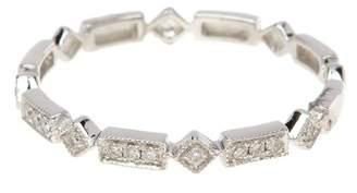 Bony Levy 18K White Gold Diamond Multi Shape Band Ring - 0.06 ctw - Size 6.5