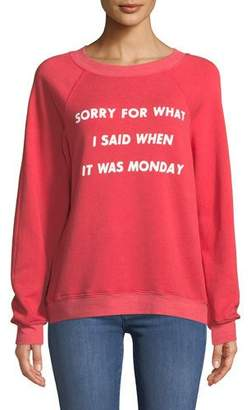 Wildfox Couture Sorry For Monday Graphic Pullover Sweater